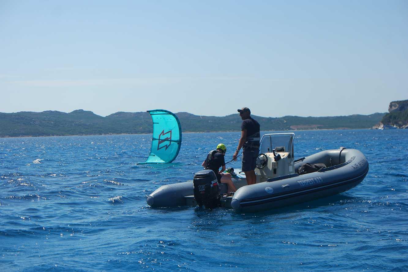 Cours de kitesurf à Balistra Bonifacio